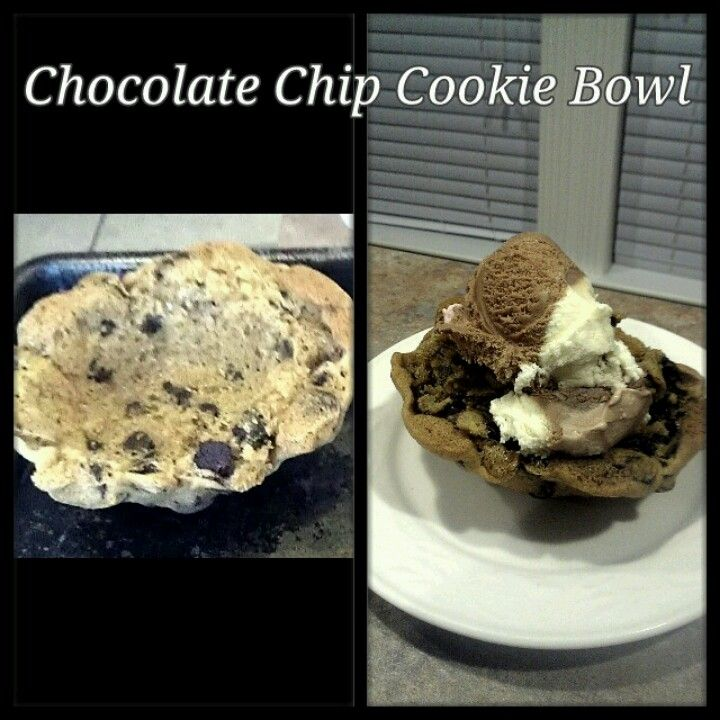 Chocolate Chip Cookie Bowl | Easy Desserts | Pinterest