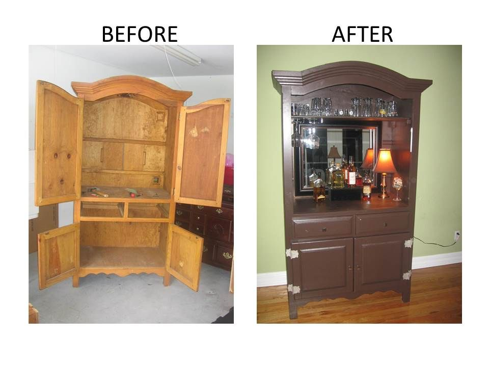 convert an armoire into a bar   just b.CAUSE