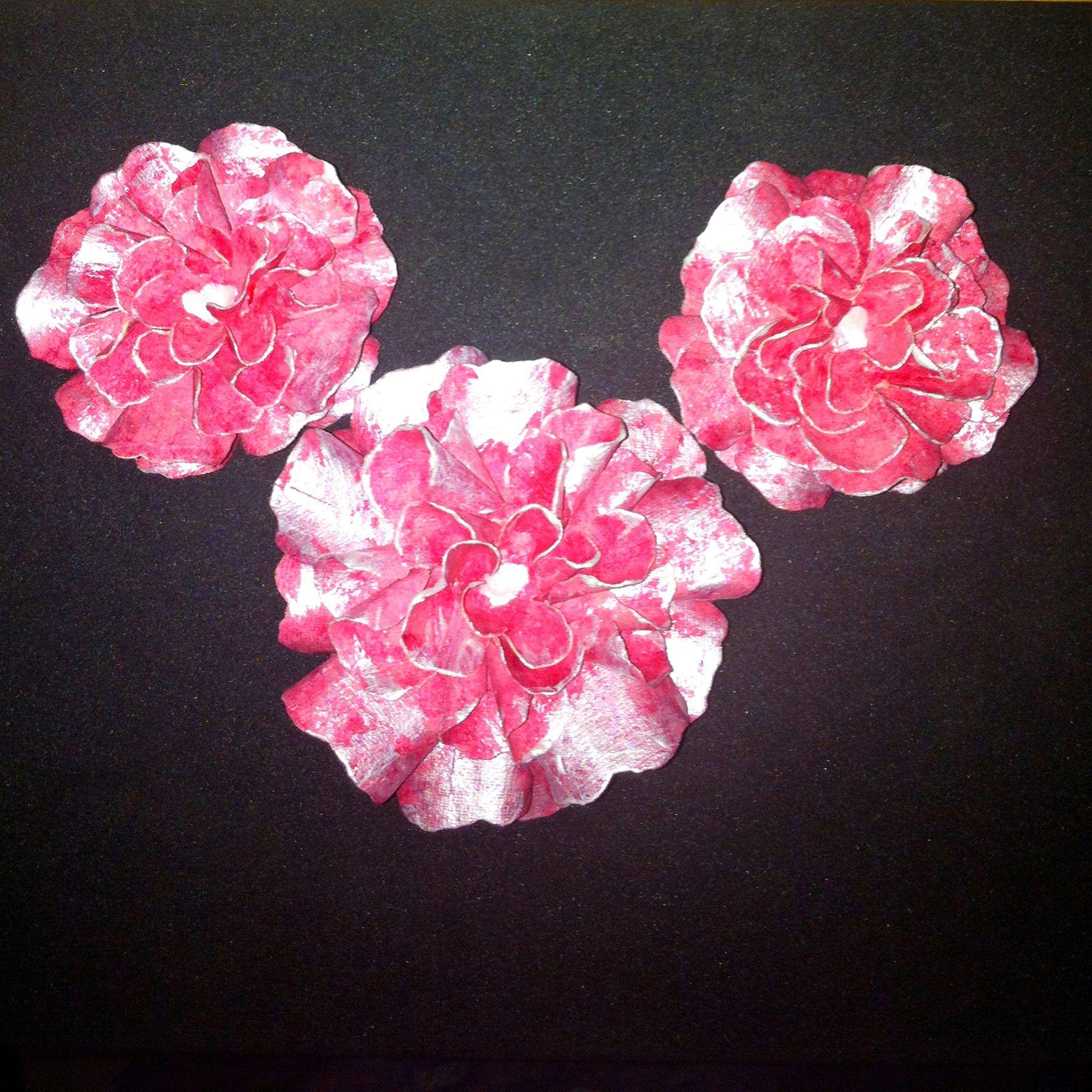 handmade paper flower art pinterest