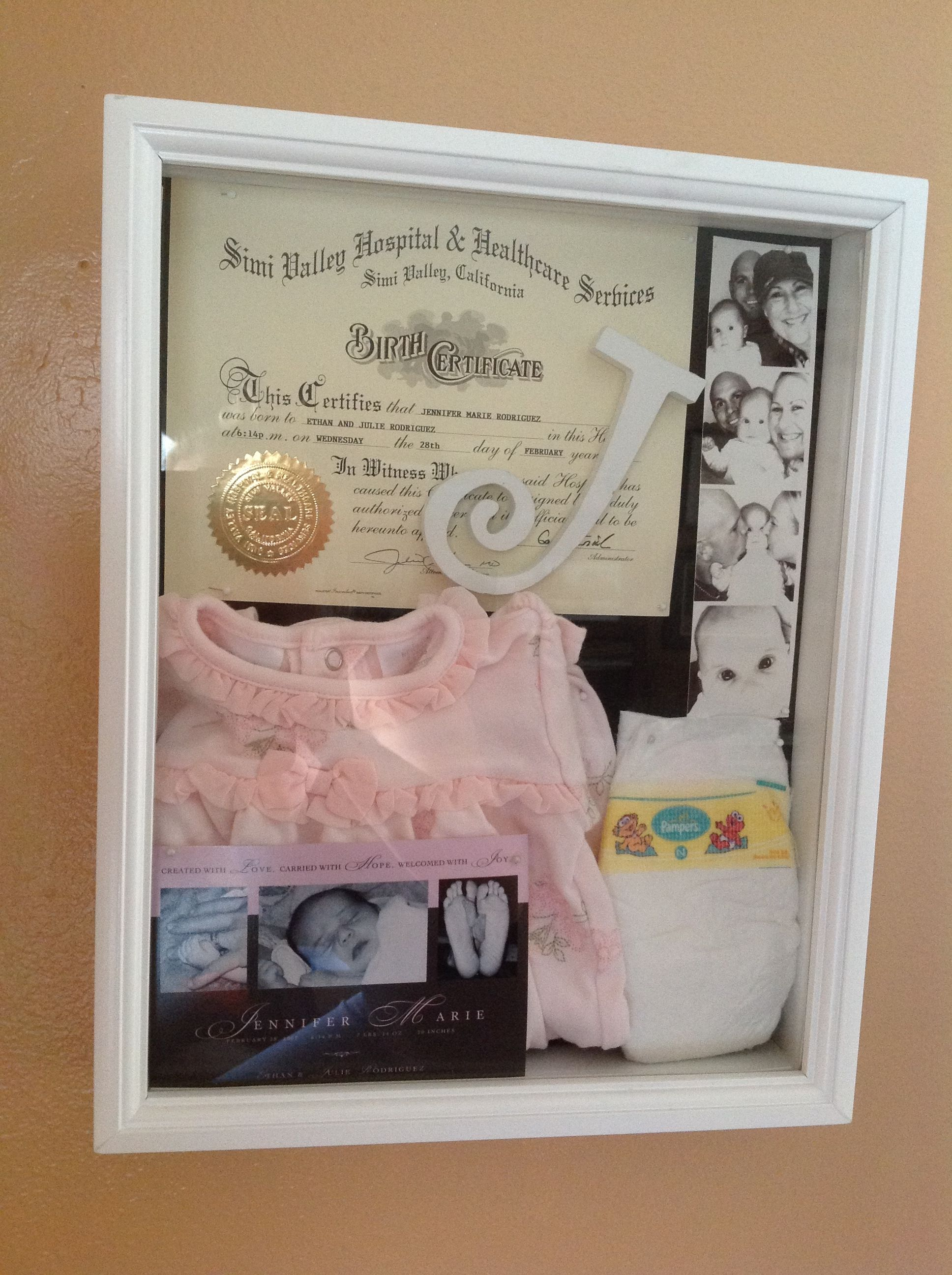 shadow box idea for baby charlotte jilly pinterest. Black Bedroom Furniture Sets. Home Design Ideas