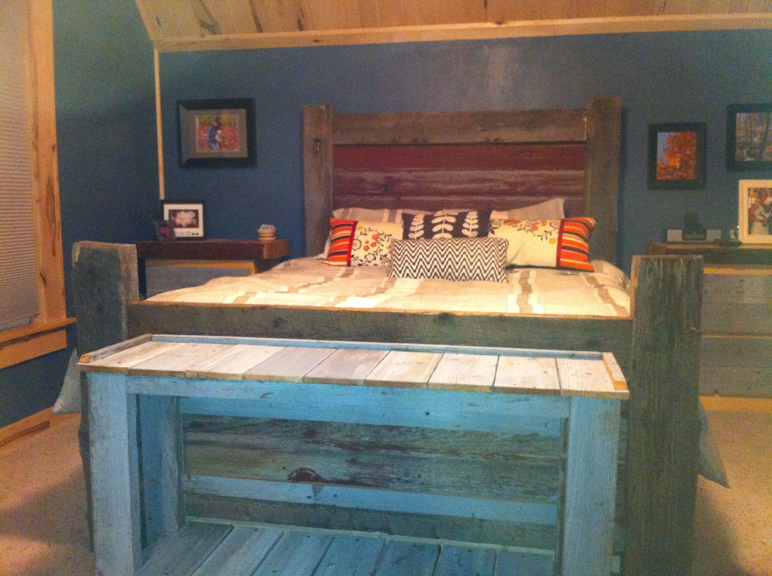 barnwood bedroom set for the home pinterest