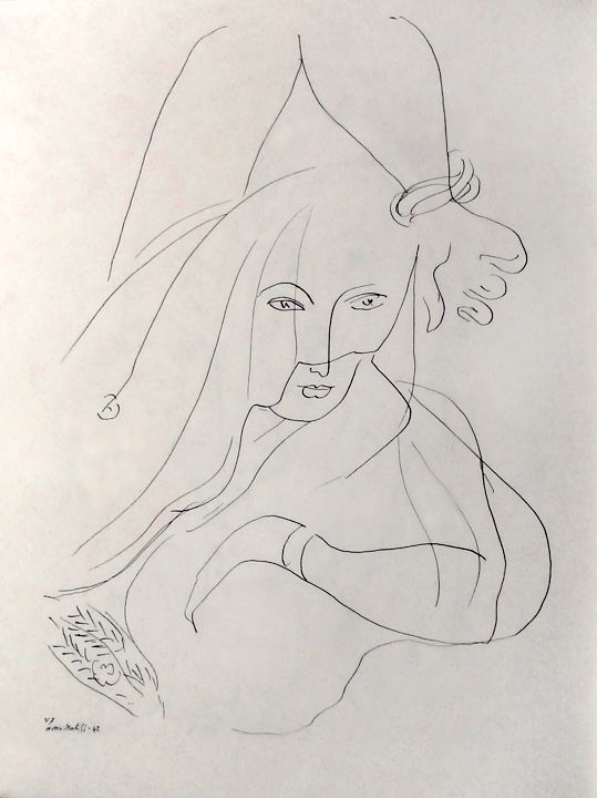 Matisse Contour Line Drawing : Matisse line drawing draw pinterest