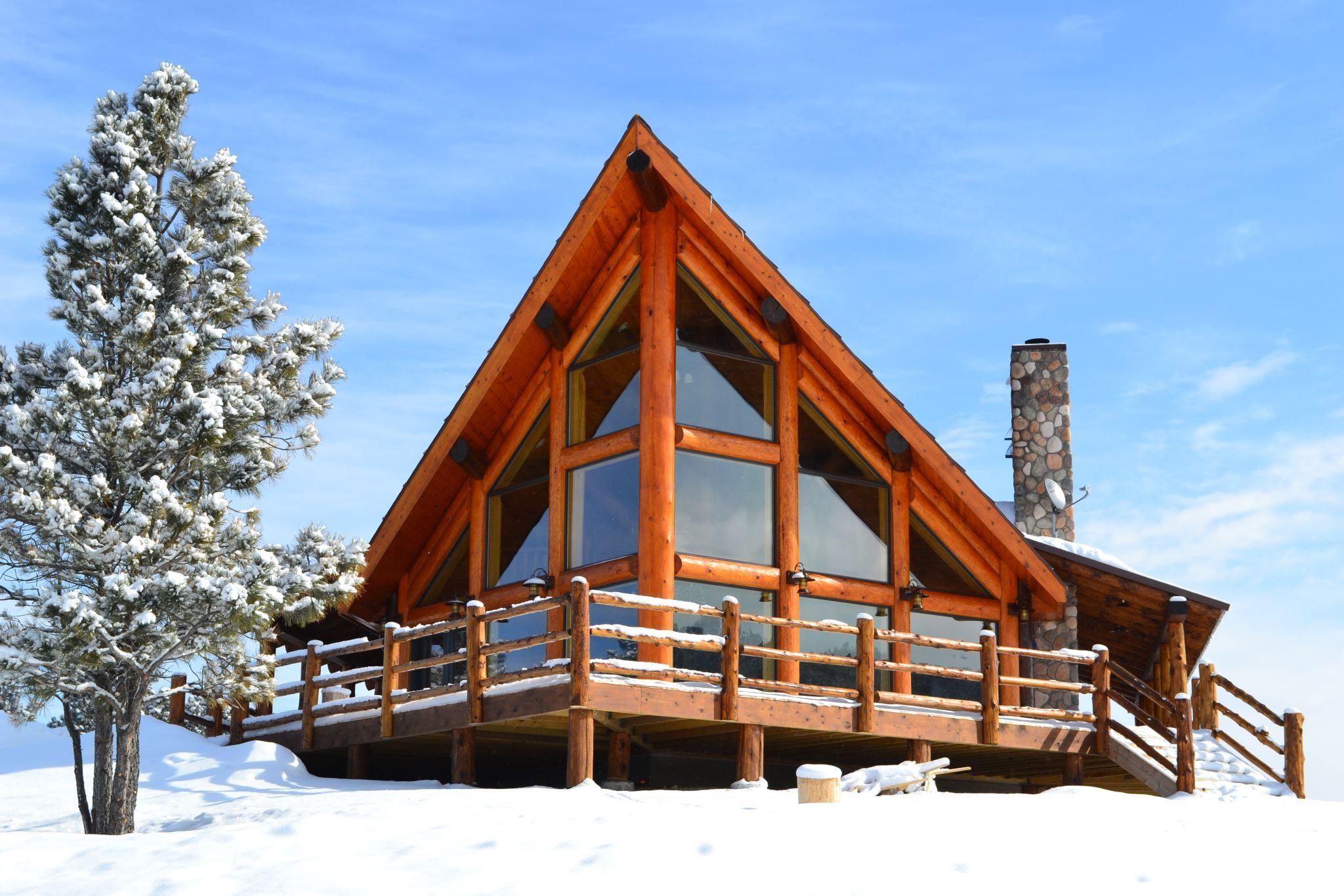 Snow cabin log homes cabins rustic decor pinterest for Chalet flooring