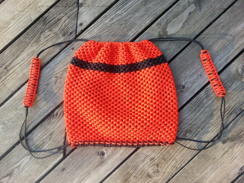 drawstring paracord backpack diy and stuff pinterest