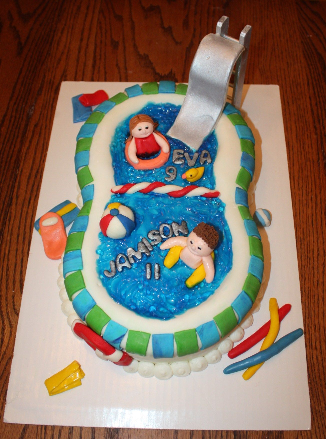 Pool Party! cake decorating ideas Pinterest
