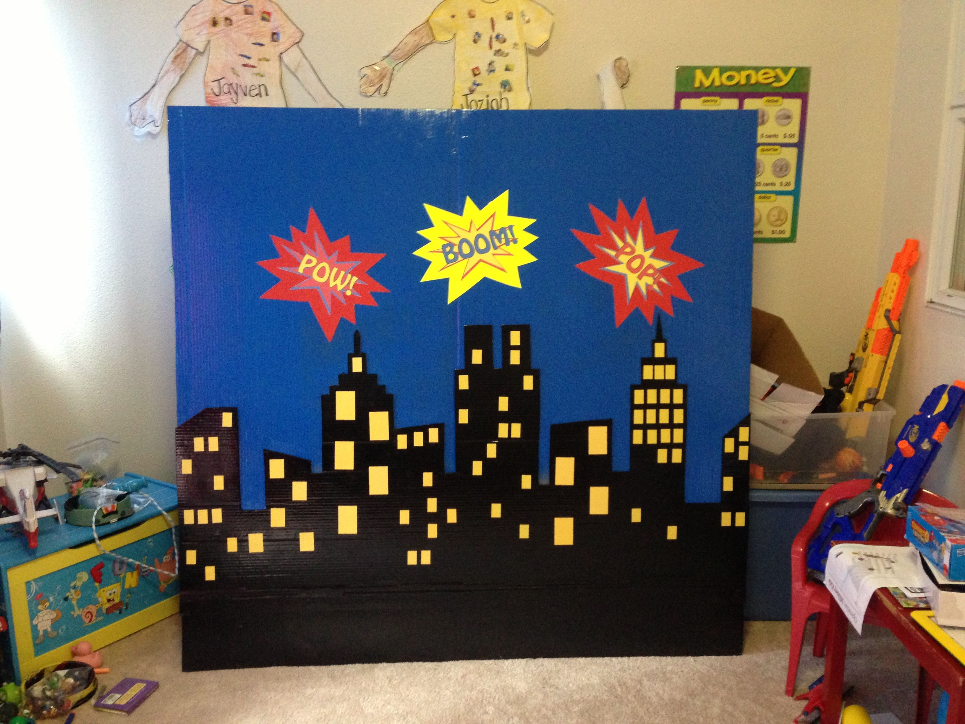 Superhero Party Backdrops Party Invitations Ideas