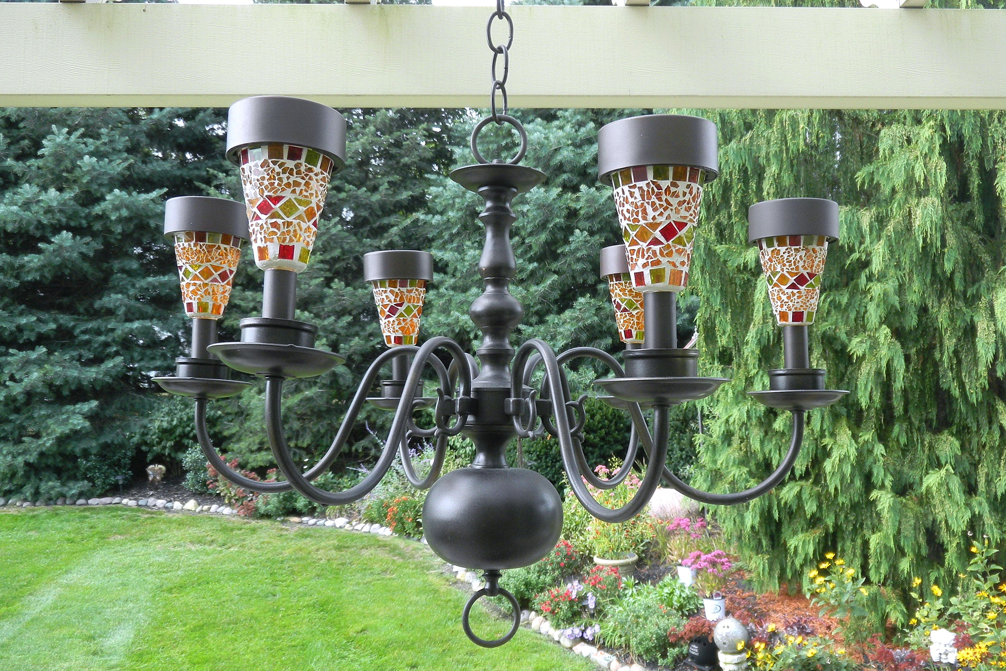 1000 images about solar home ideas we love at design connection inc kansas city interior - Outdoor chandelier diy ...