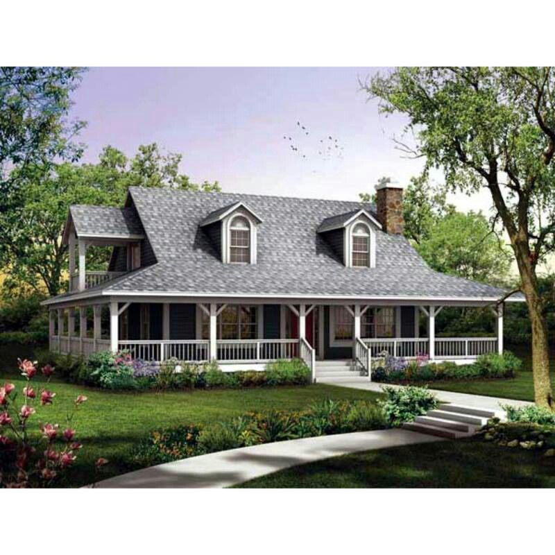 Country Home With Wrap Porch Dream Home Ideas Pinterest