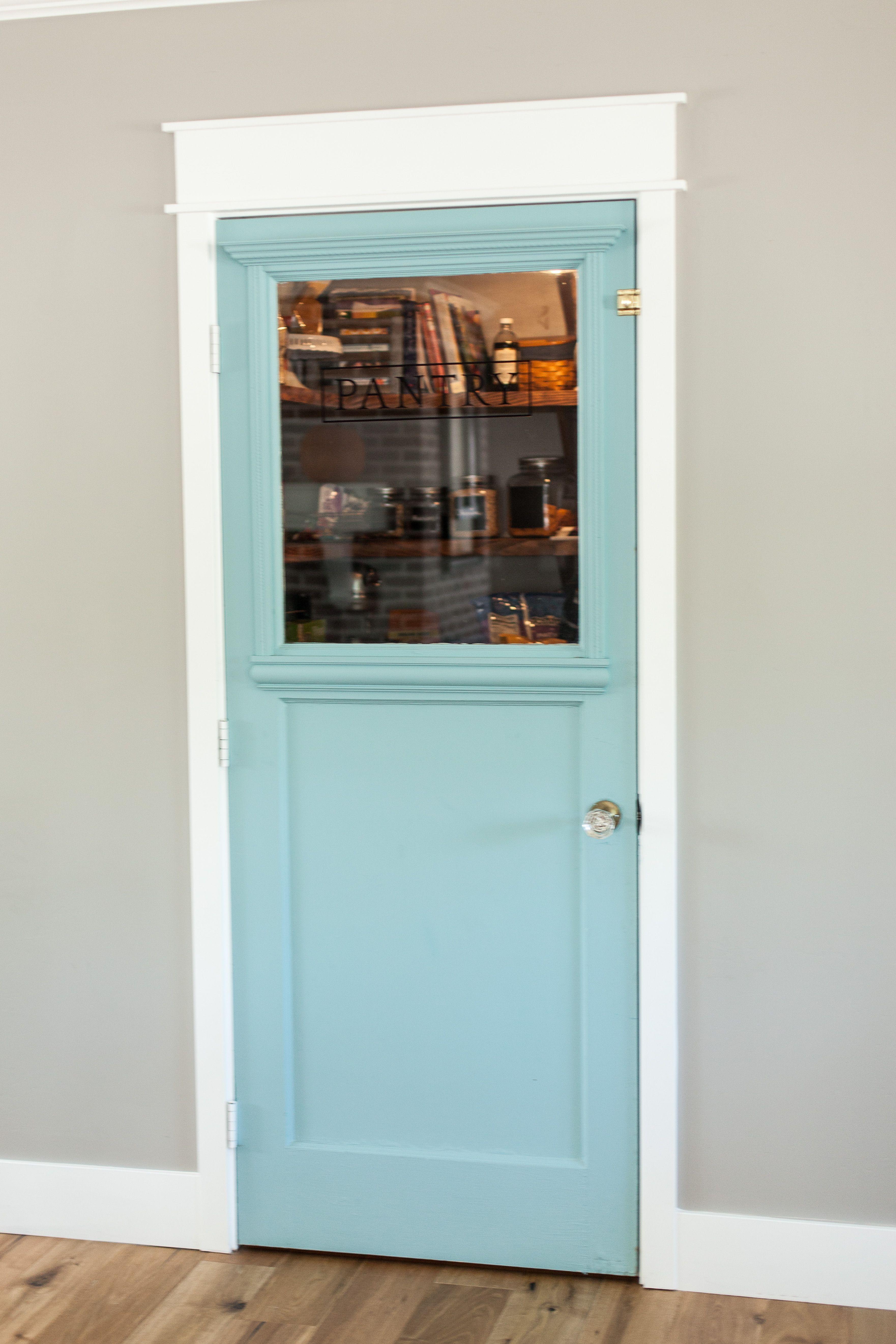Custom Mint Pantry Door By Rafterhouse Myrafterhouse Pinterest