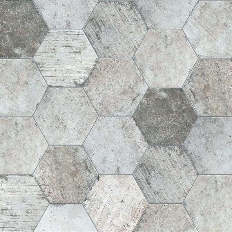 Porcelain hexagon floor tile