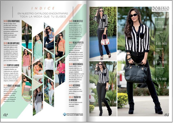 Teen fashion magazine layout