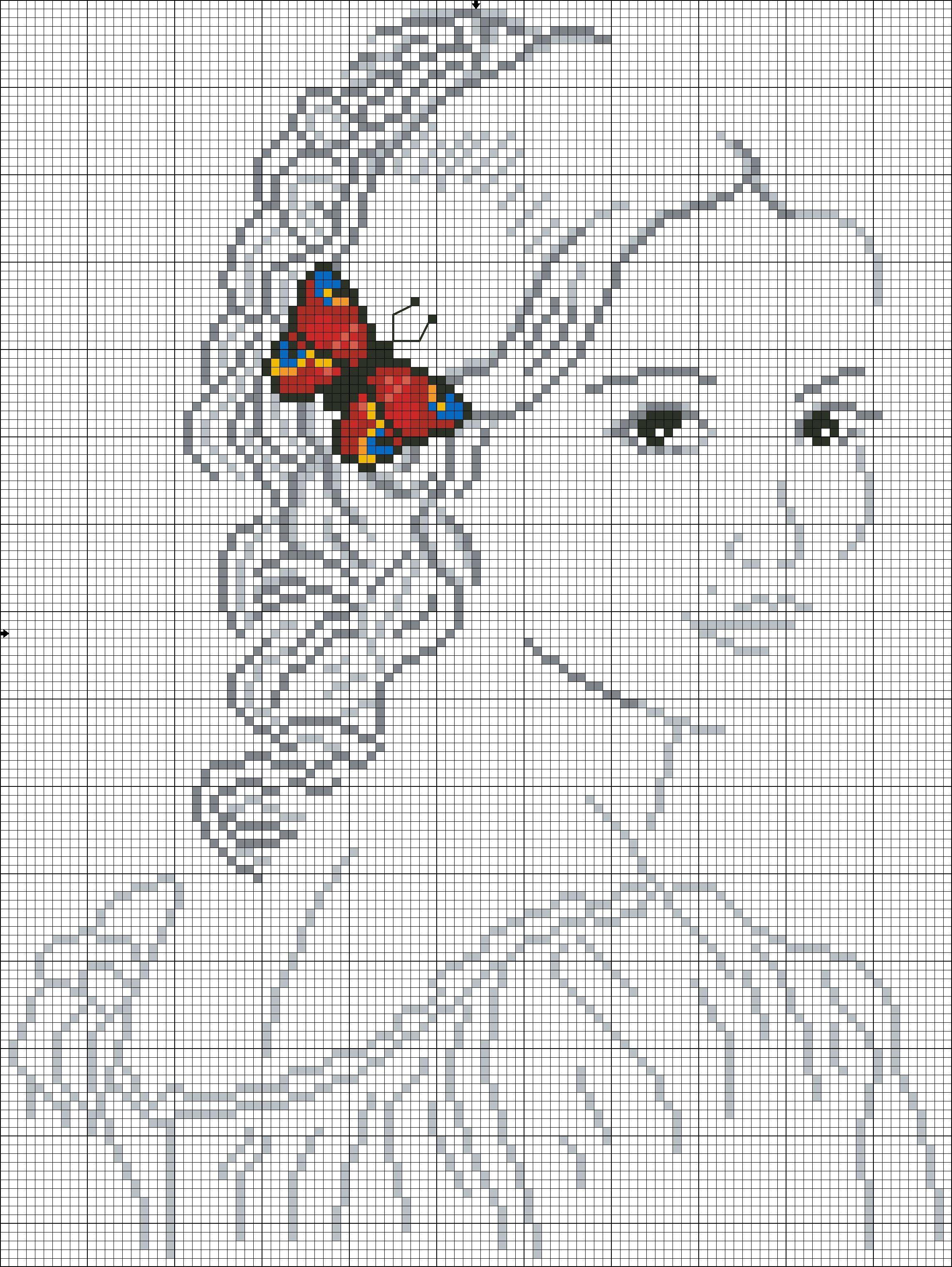 Схема вышивки крестом женщины 2 фотография