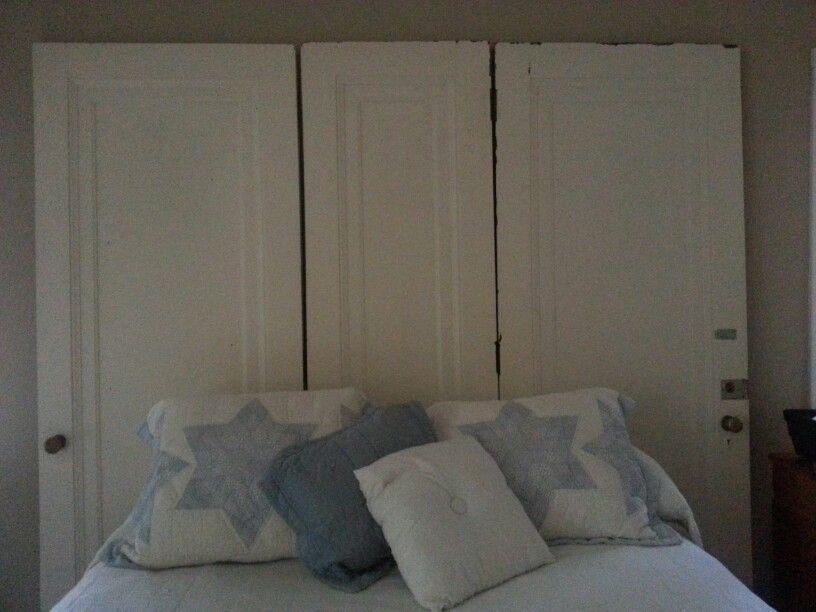 Vintage door headboard | Decorating projects / ideas | Pinterest
