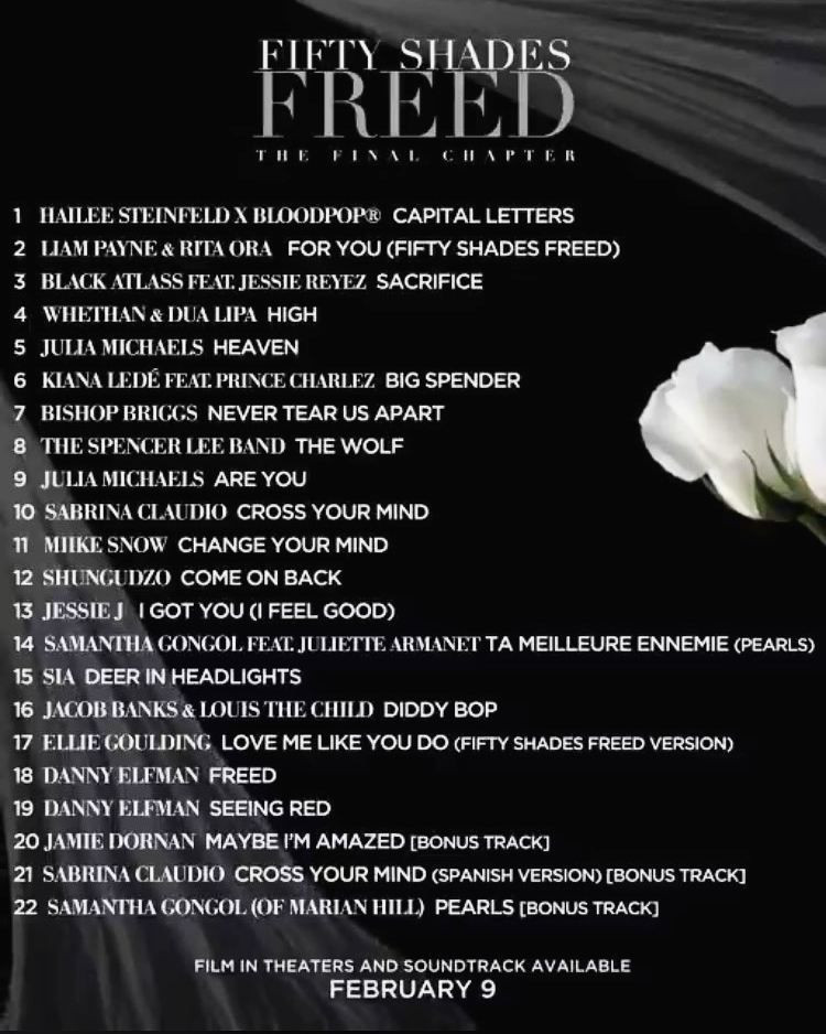 The Official 50 Shades of Grey Tracklist Released