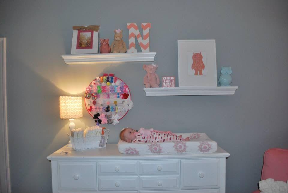 Baby girl nursery baby girl pinterest for Pinterest baby decor