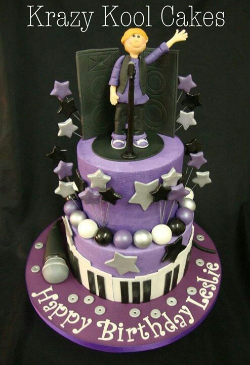 Cake Decorating Ideas Musician : Music theme cake Cake Decorating Ideas Pinterest