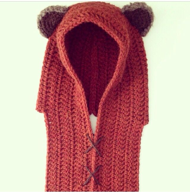 Ewok hat and scarf combo...love it Get in my closet ...