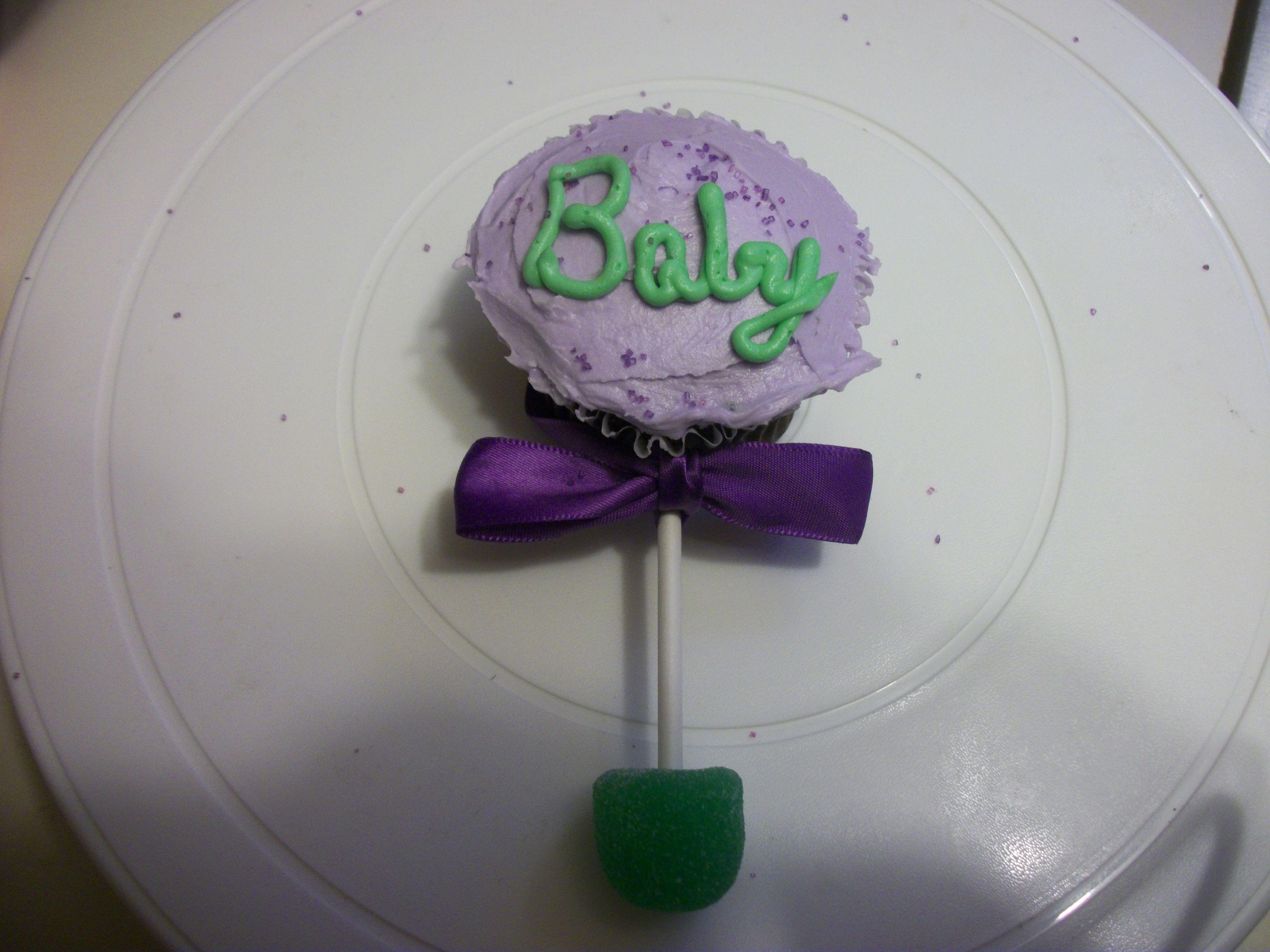 Baby rattle cupcake | My Favorite Things | Pinterest