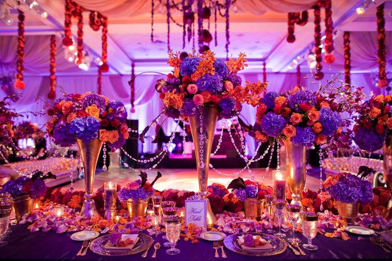 Purple And Orange Centerpiece