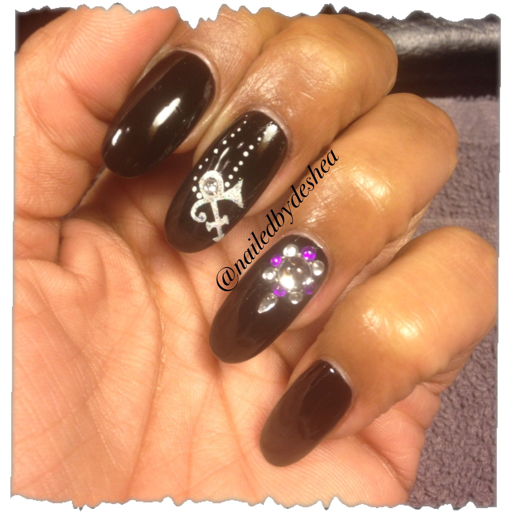 Prince The Artist Bling Nailart Nails