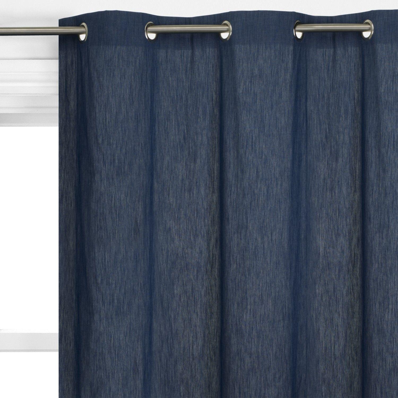 Blue jean curtains