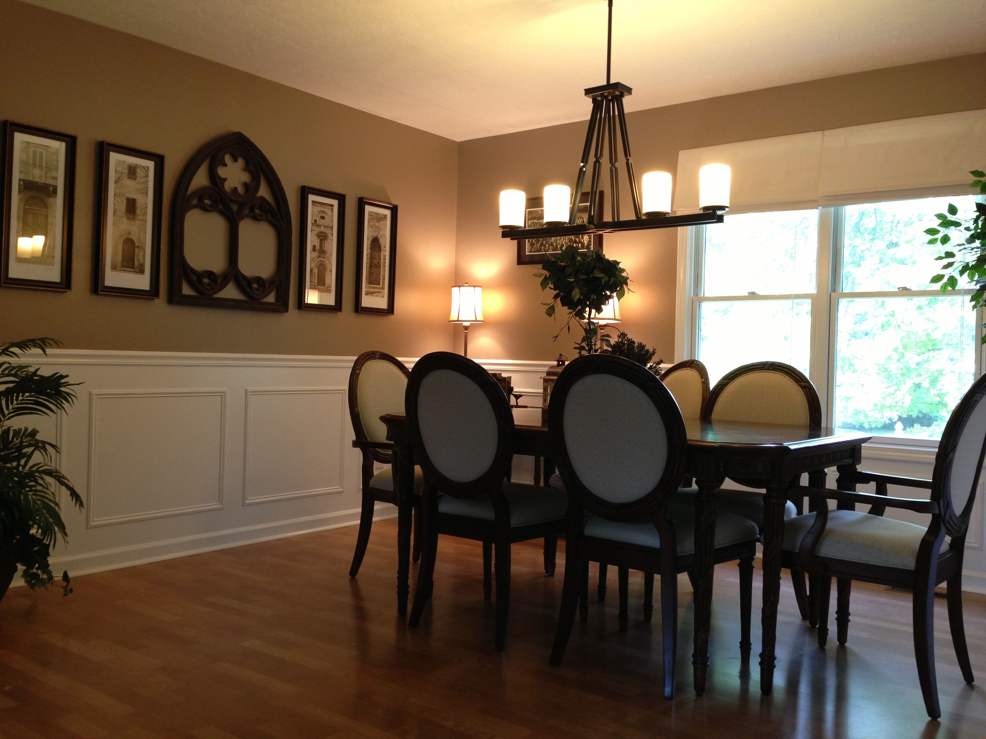 faux wainscoting in formal dining room master pinterest