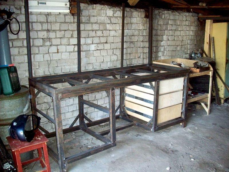 Стол в мастерскую из металла своими руками