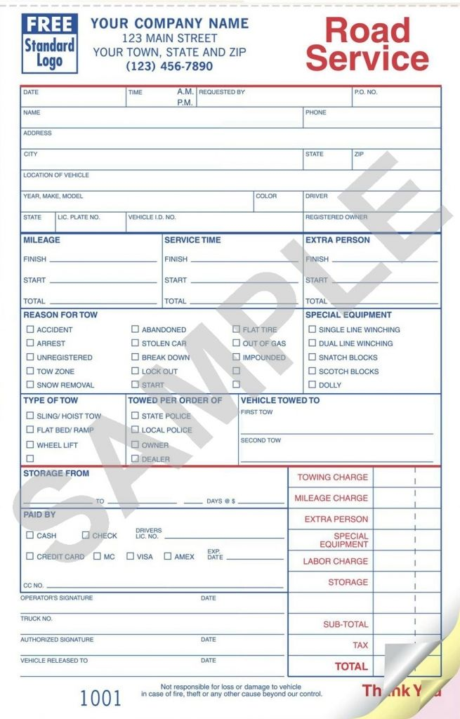 towing invoice template  Sample Towing Invoice Template Towing Invoice Template Excel ...