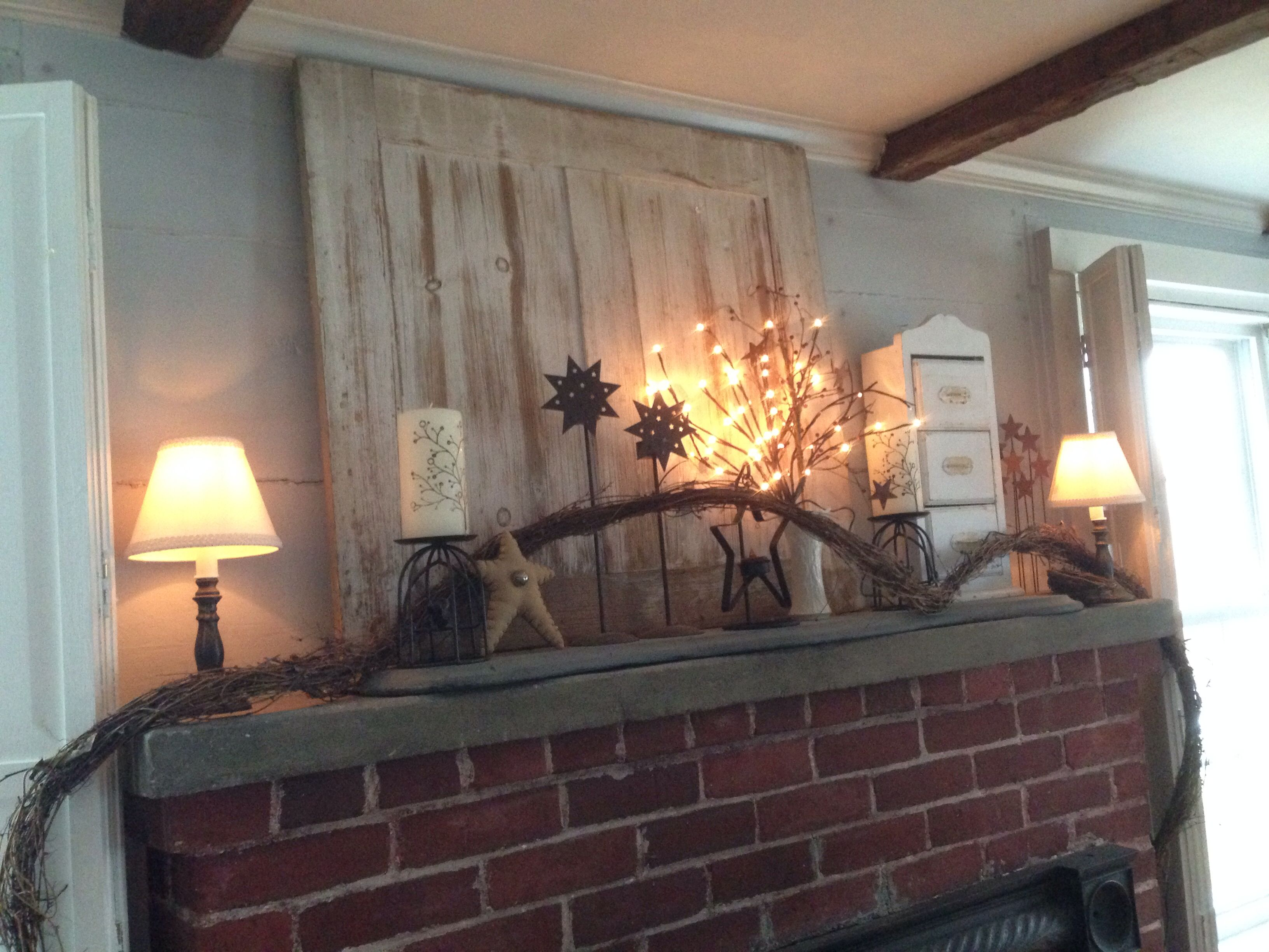 Country Mantle Decor For Winter Home Decor And Design