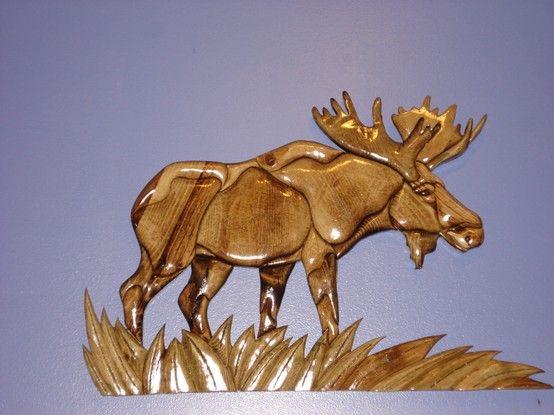 Moose. Judy Gale Roberts pattern design   CERVIDAE