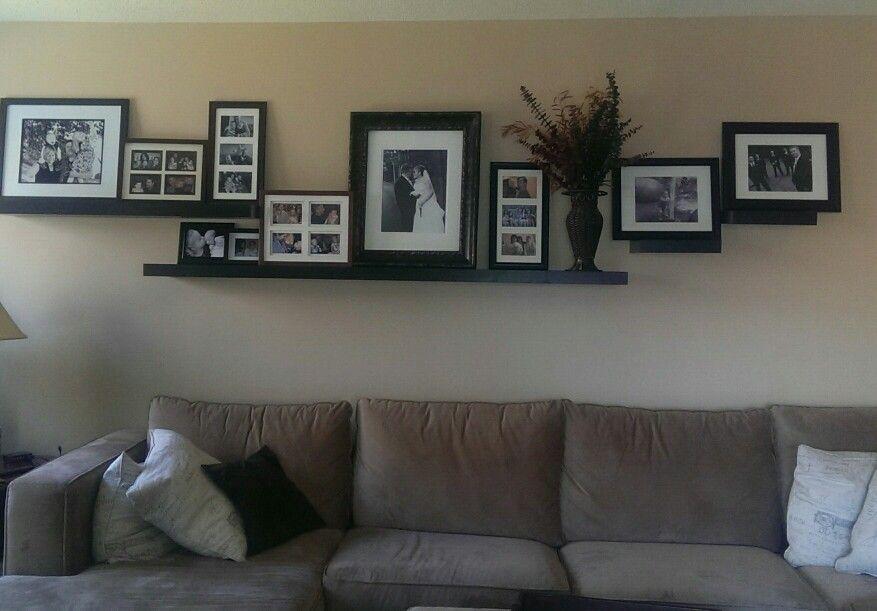 floating shelves in my living room home pinterest
