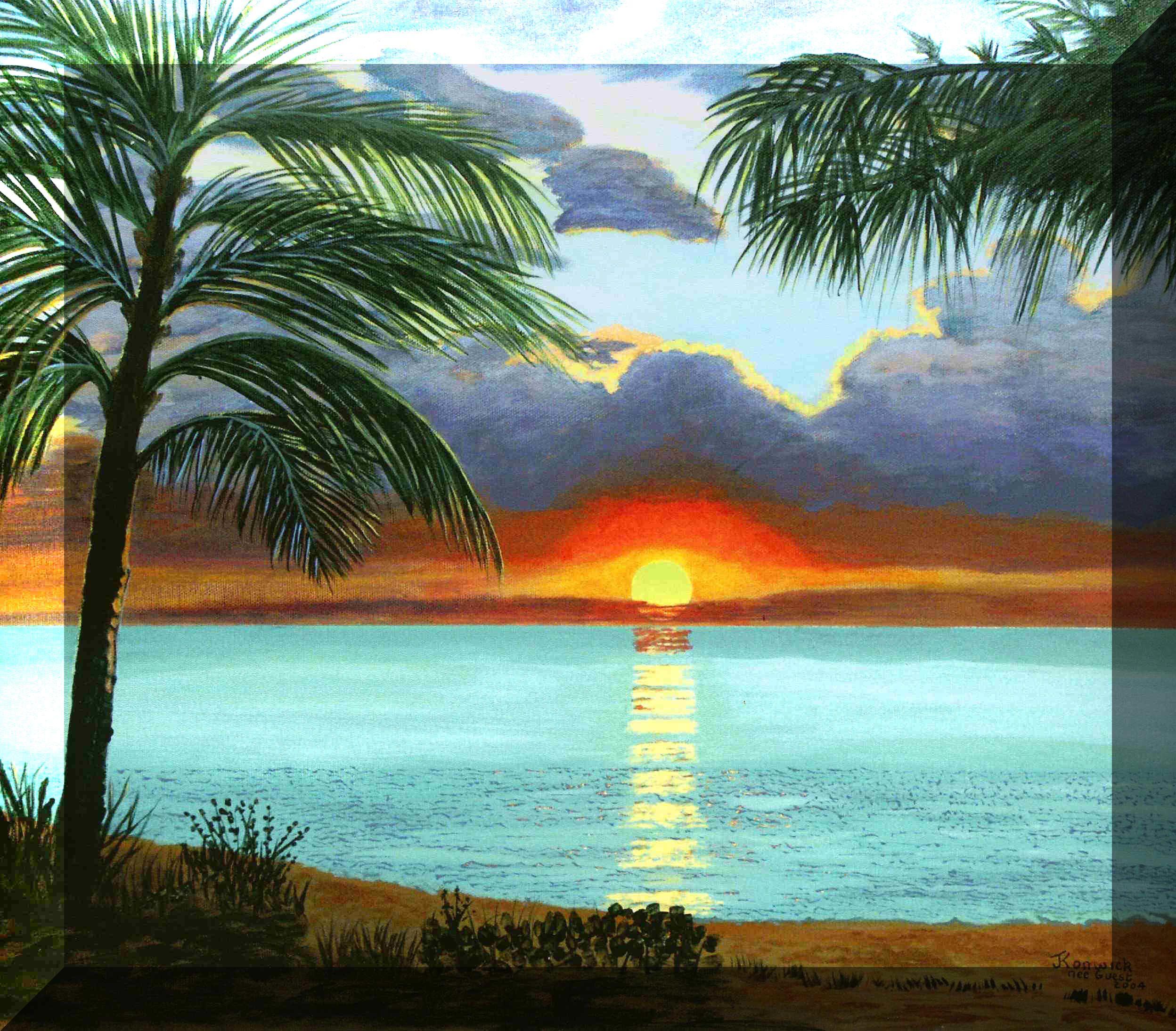 Caribbean: Caribbean-Sunset Painting