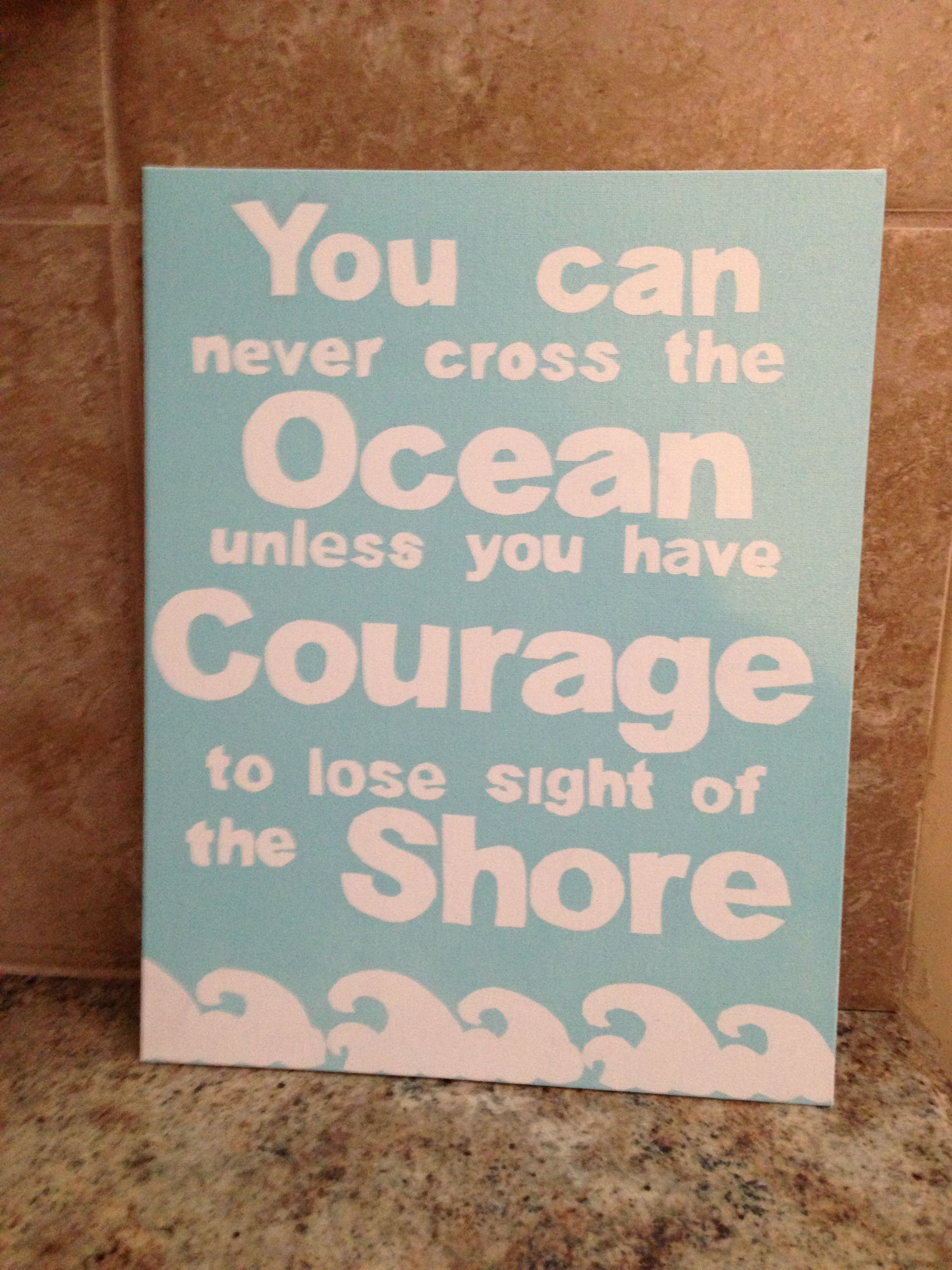 inspirational quote painted on canvas crafts pinterest