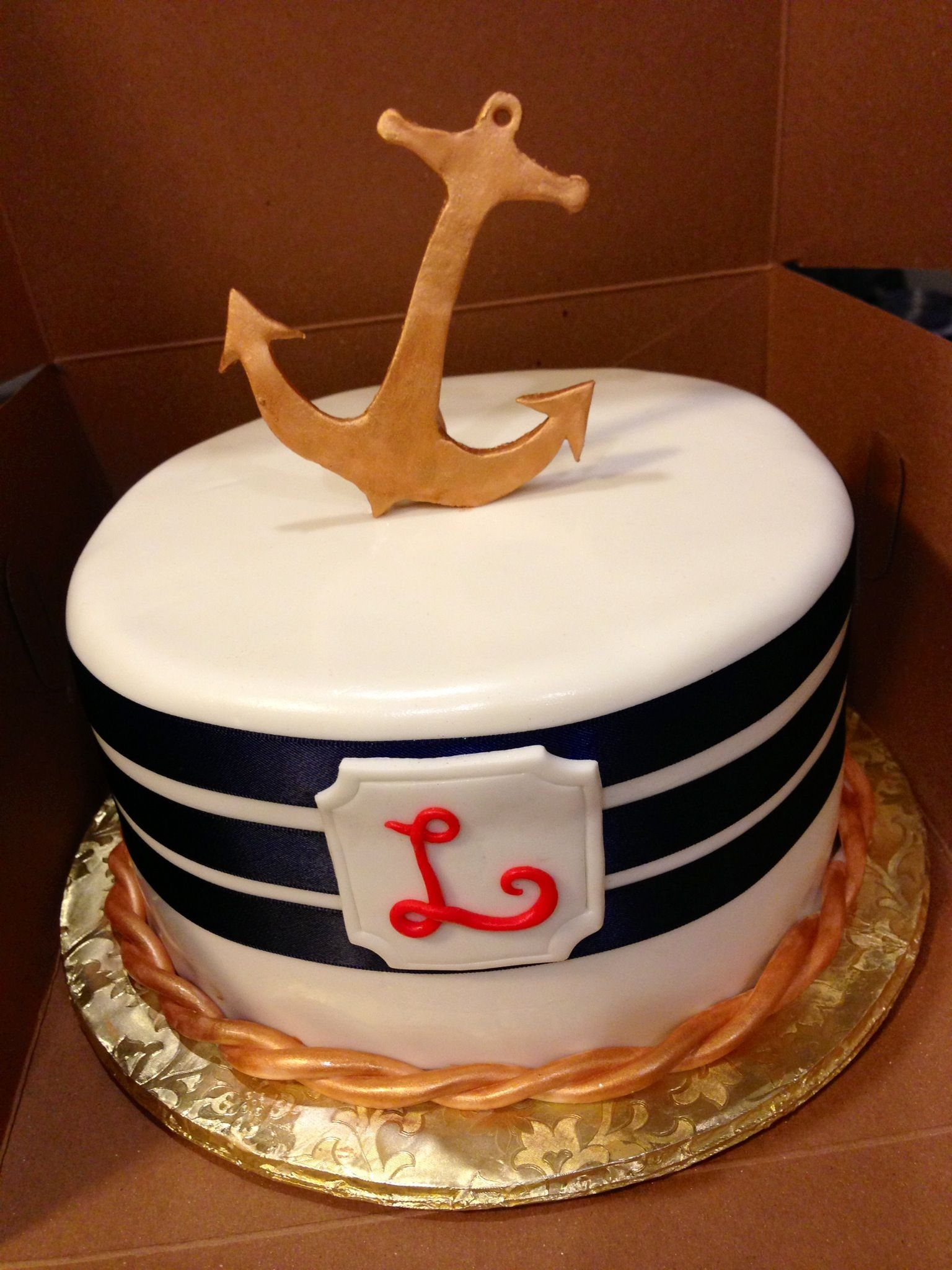 nautical themed baby shower cake cakey pinterest