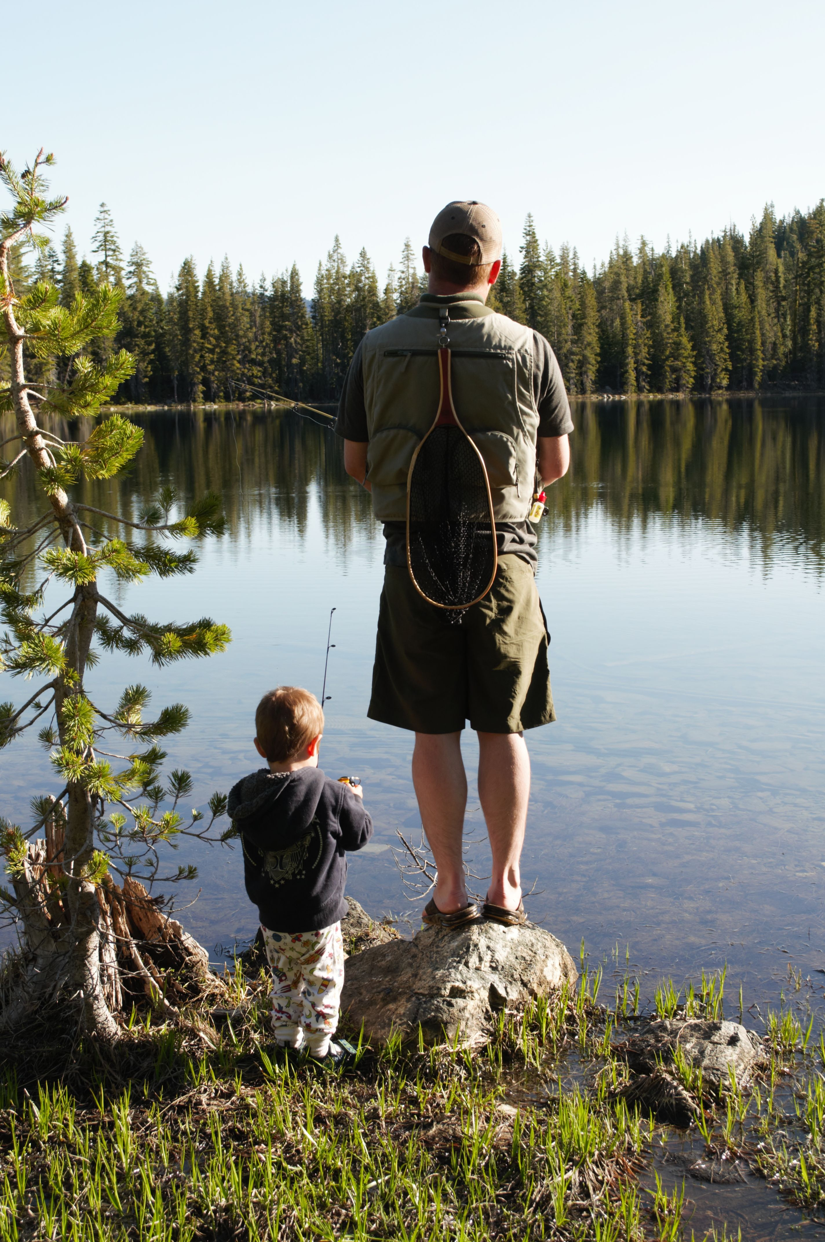 father and son fishing the lake house pinterest
