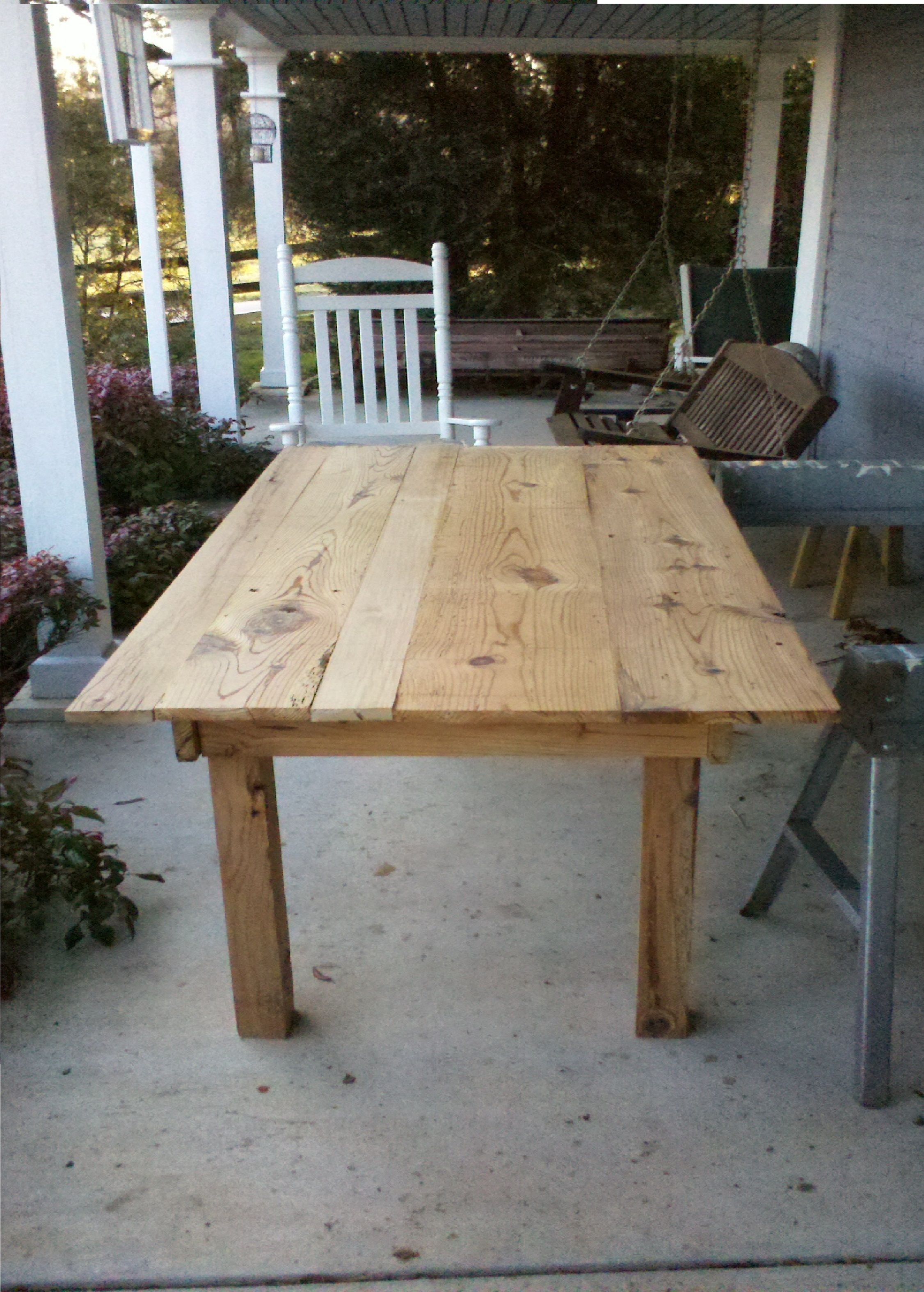 Hand Made Barn Wood Kitchen Table For The Home Pinterest