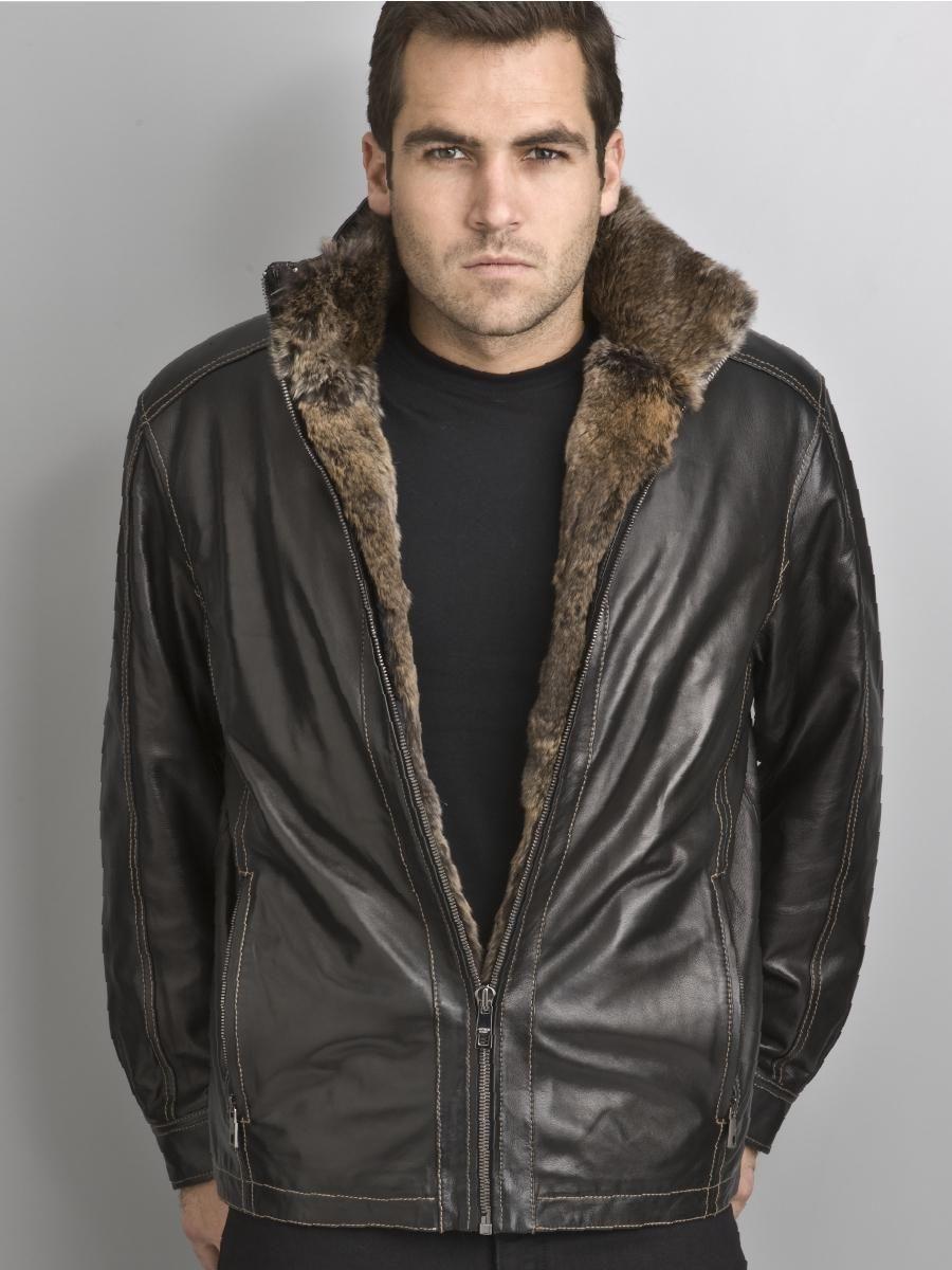 Marc Andrew Rabbit Lined Fur Jacket