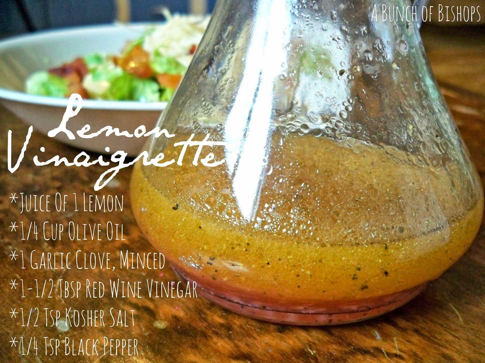 Lemon Garlic Vinagrette | Plant- based // Vegan // Vegetarian ...