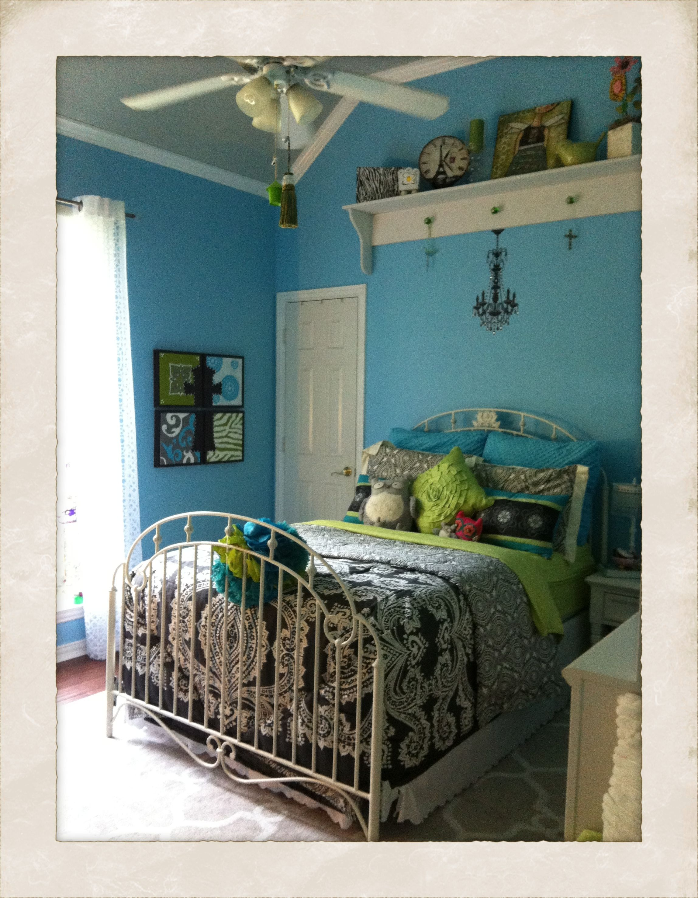 tween bedroom with tiffany blue kid bedroom ideas