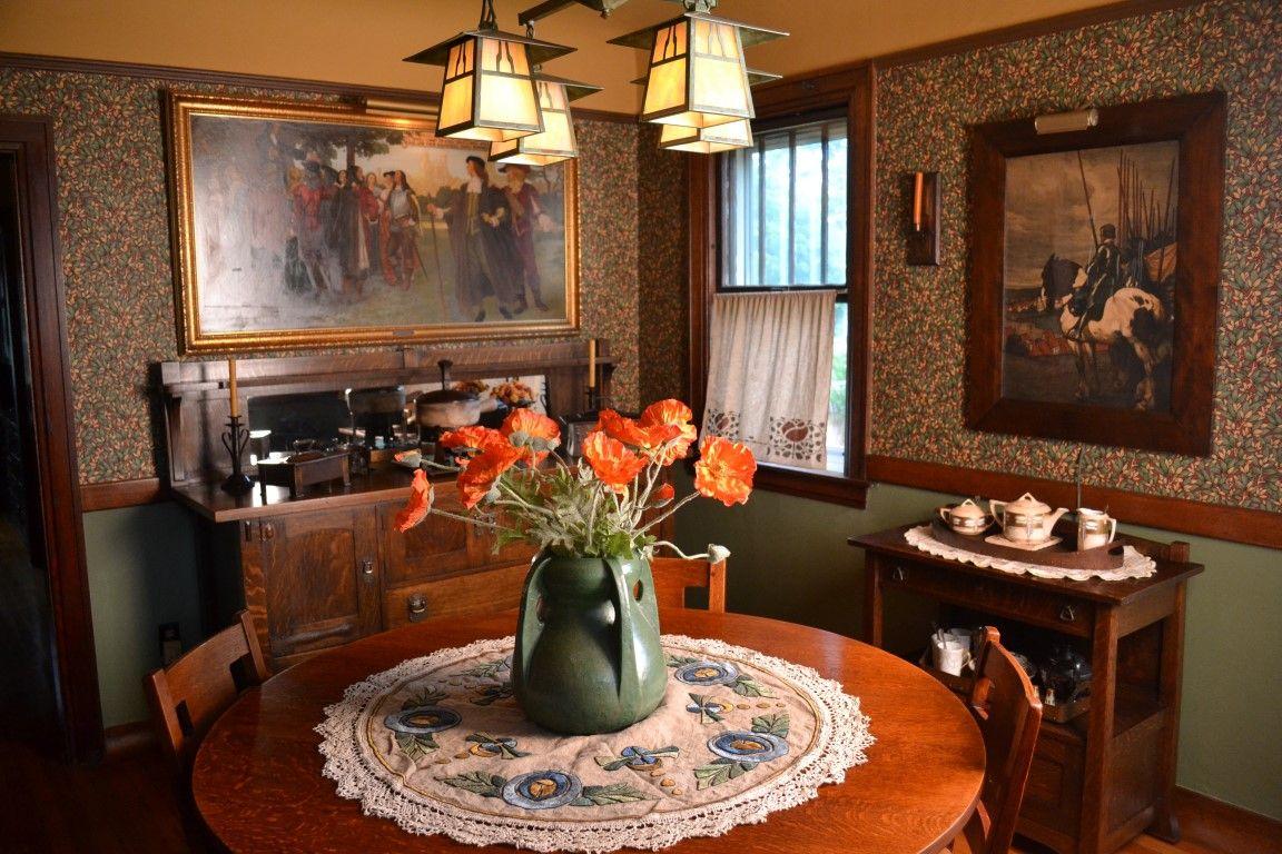 arts crafts craftsman dining room arts and crafts pinterest