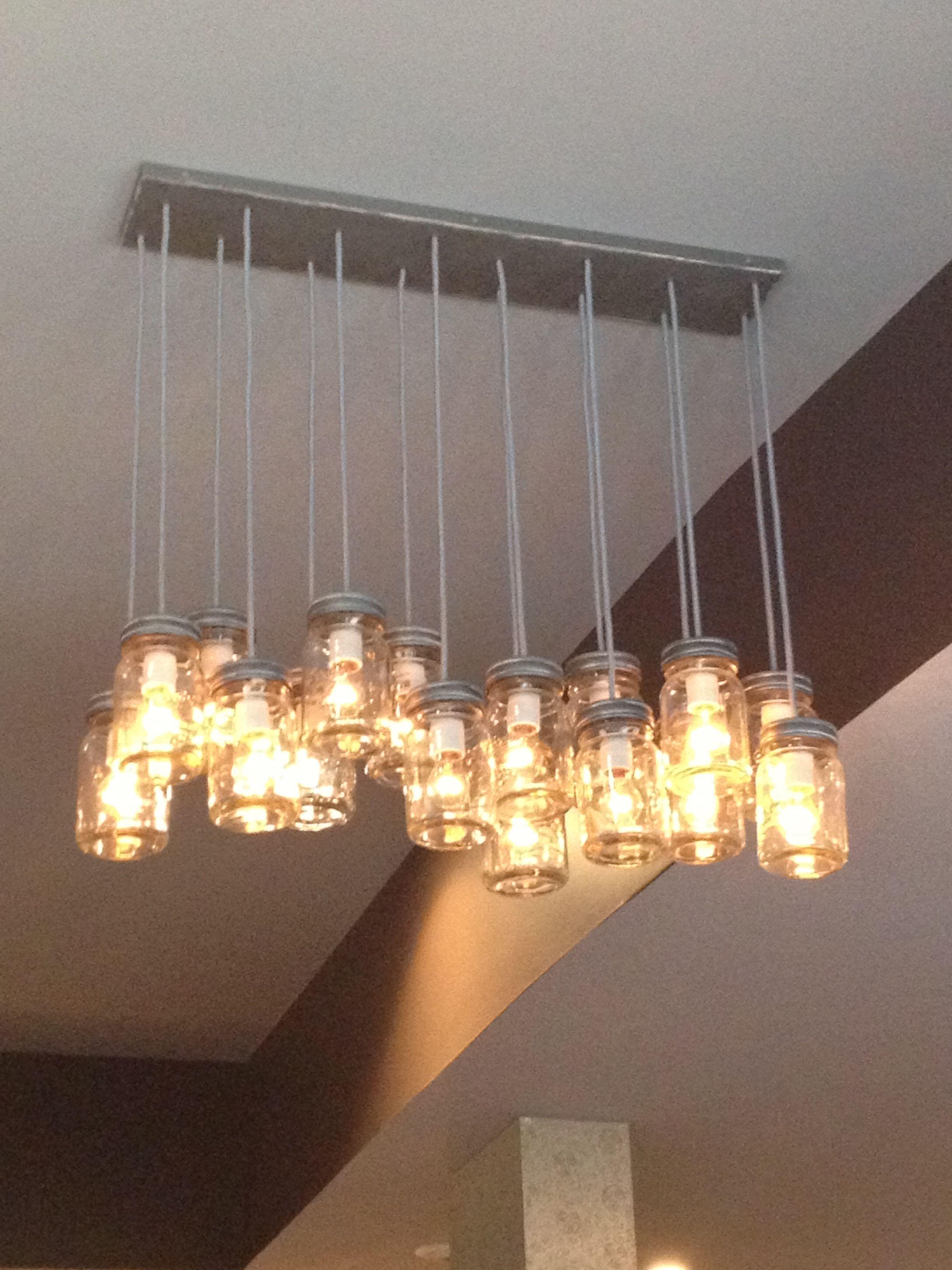 mason jar light fixture so cool kitchen dinning pinterest. Black Bedroom Furniture Sets. Home Design Ideas