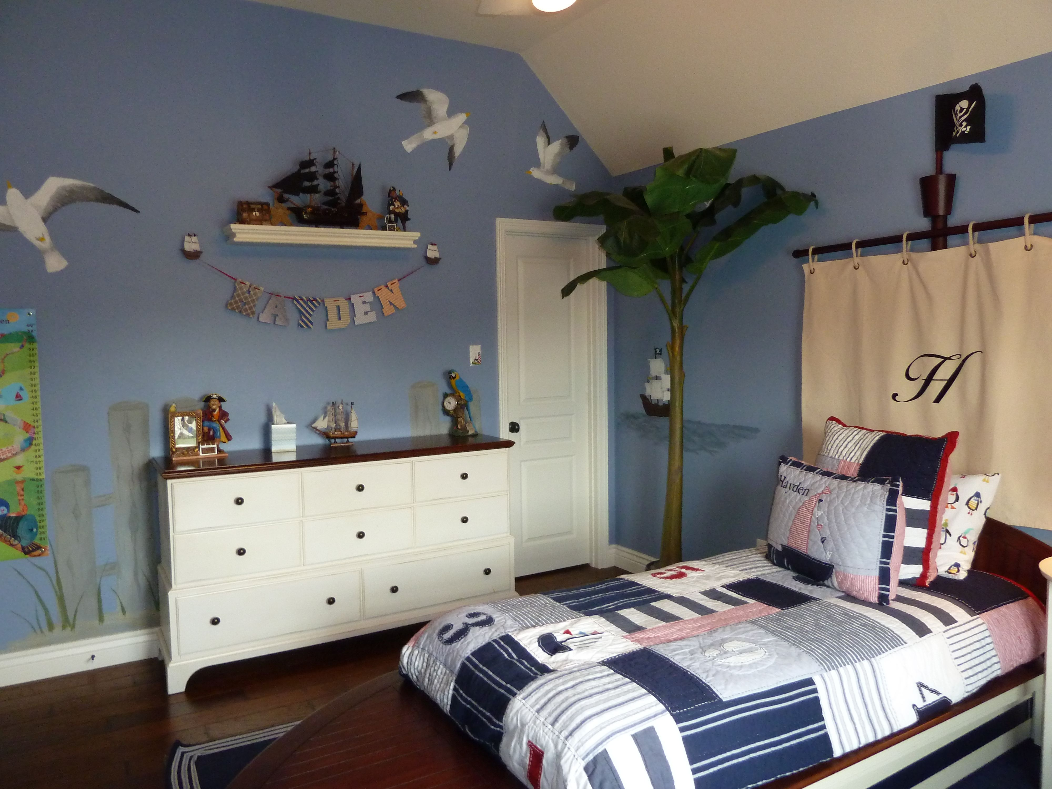 Boys nautical pirate themed bedroom matthew pinterest for Boys nautical bedroom ideas
