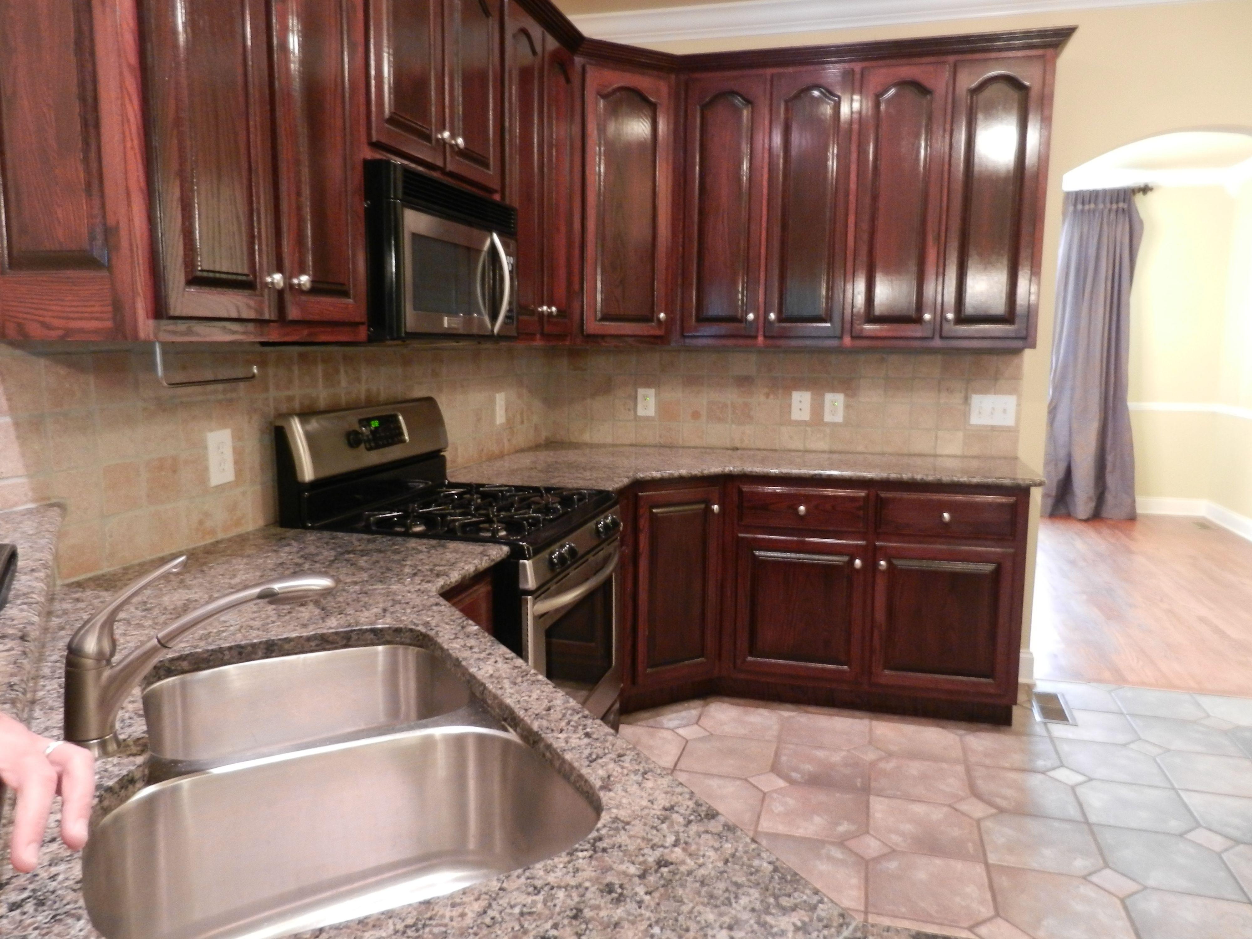 kitchen tile granite backsplash french country pinterest