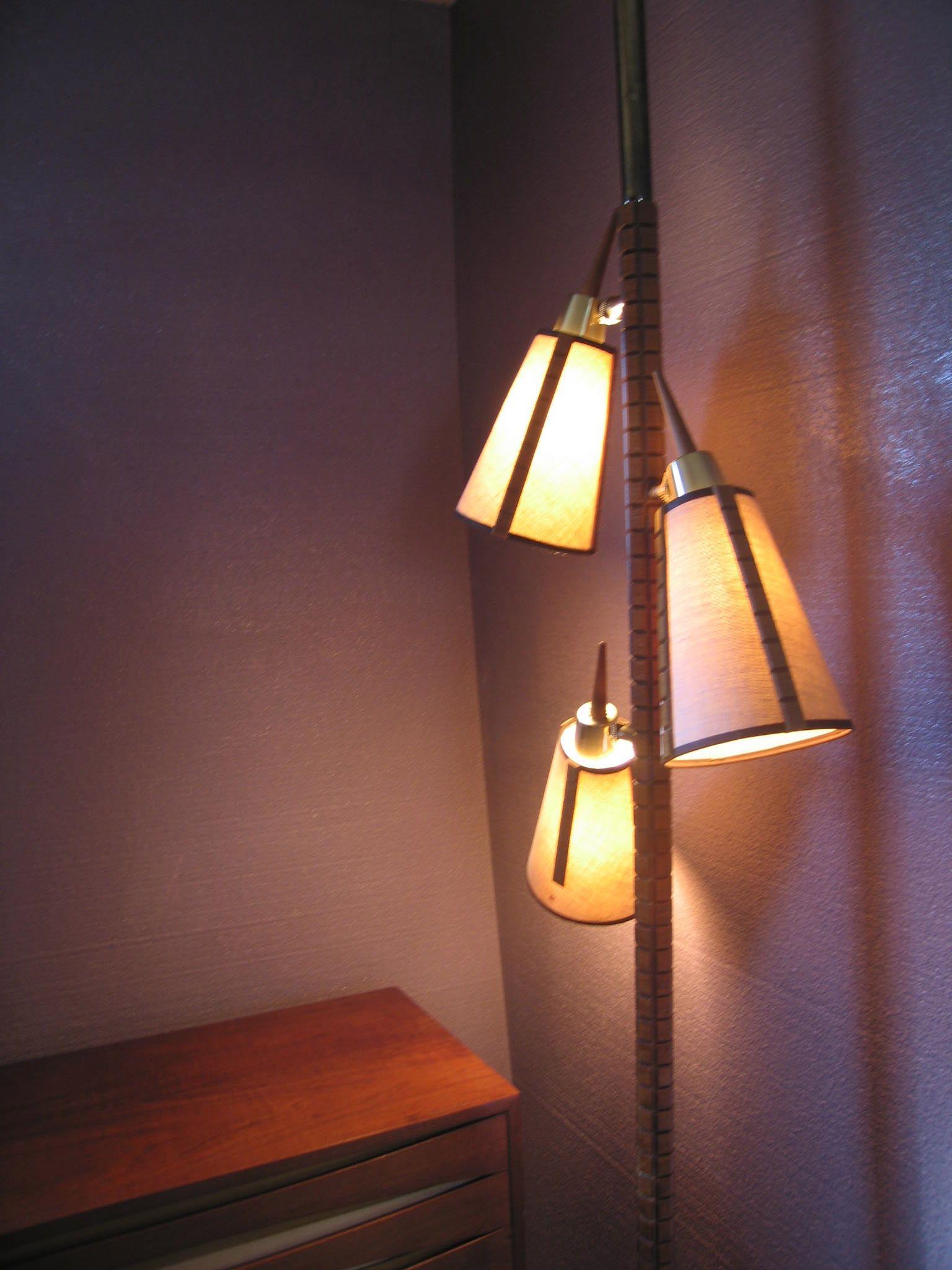 vintage tension pole lamp mid century modern pinterest. Black Bedroom Furniture Sets. Home Design Ideas