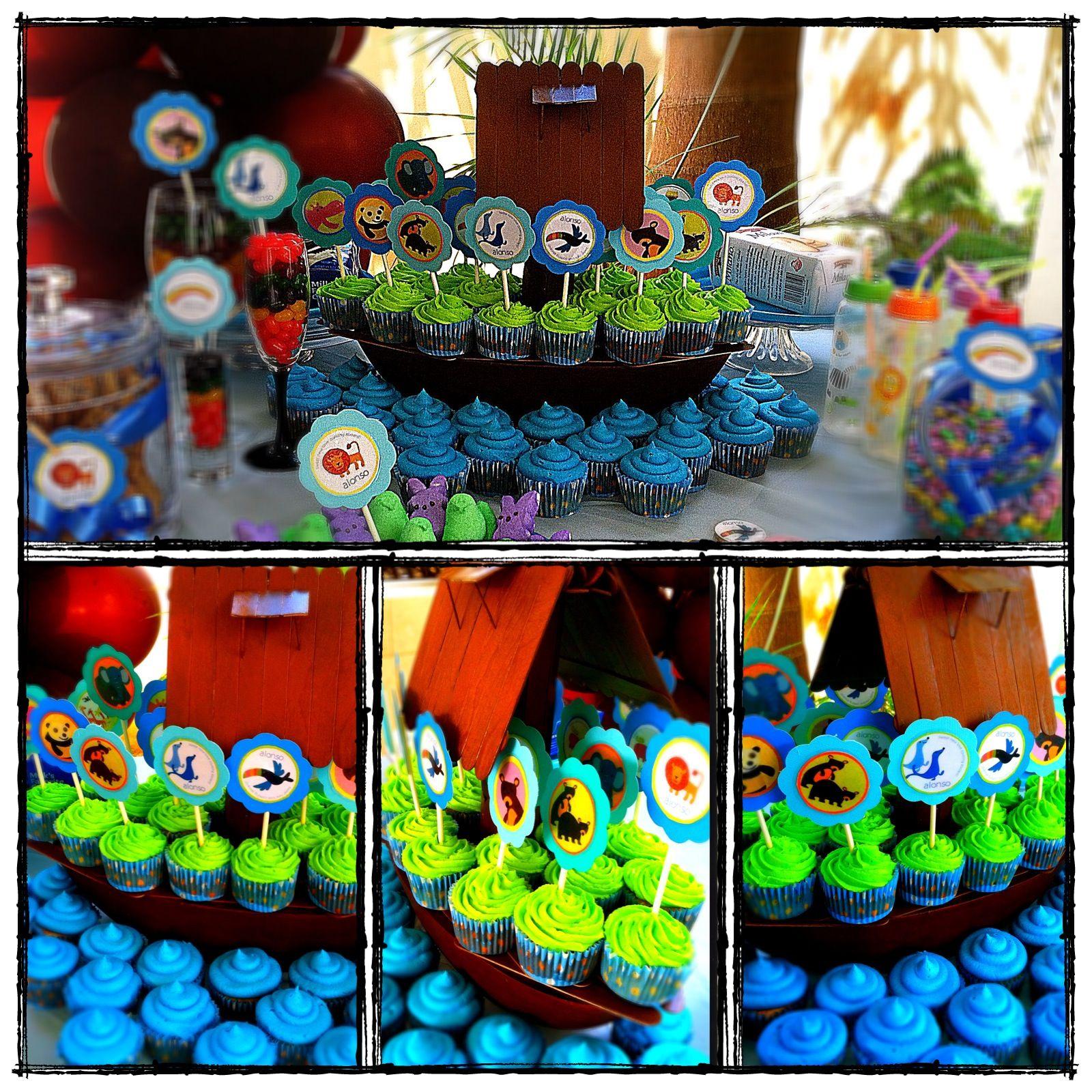 noah 39 s ark baby shower cupcakes noah 39 s ark pinterest