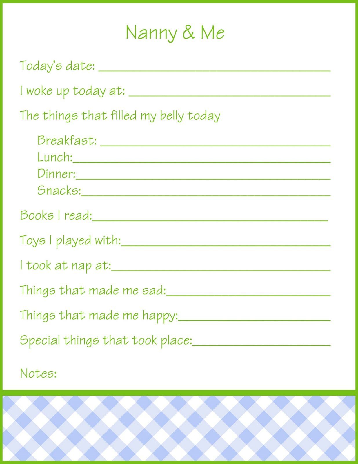 Nanny Log Template. sample daily log template 15 free documents in ...