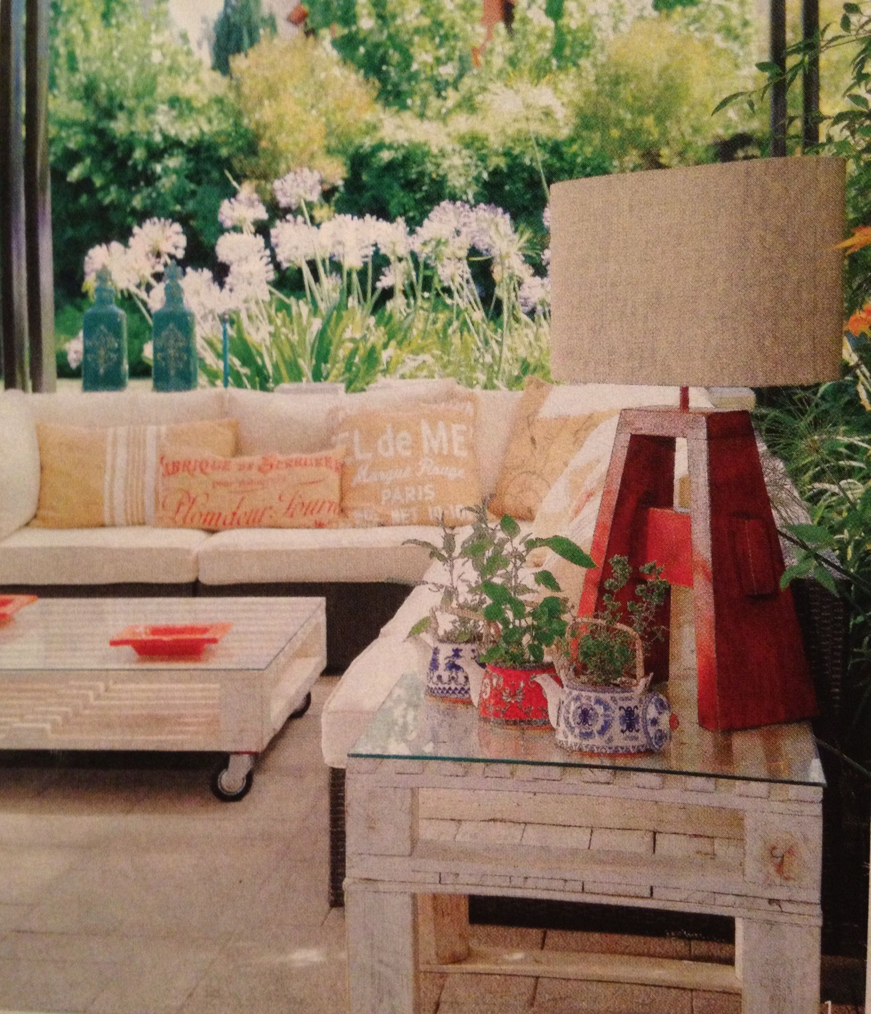Muebles de pallets  Terrazas  Pinterest
