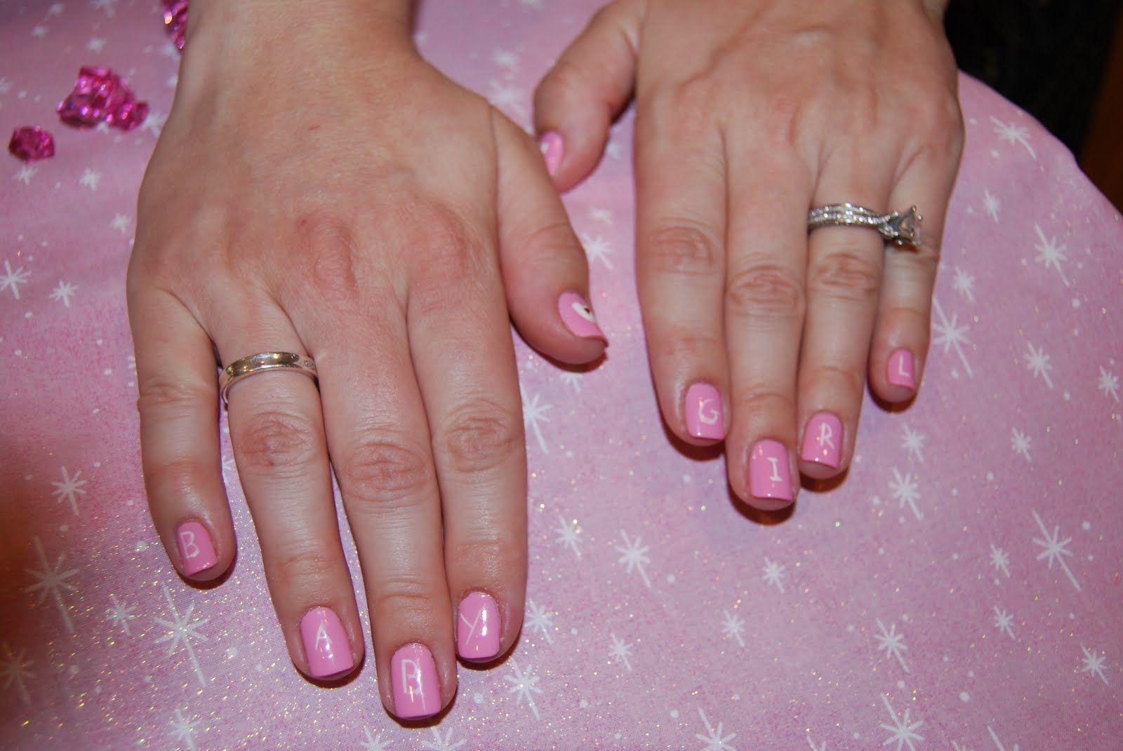 baby girl nail art for baby shower oh baby pinterest