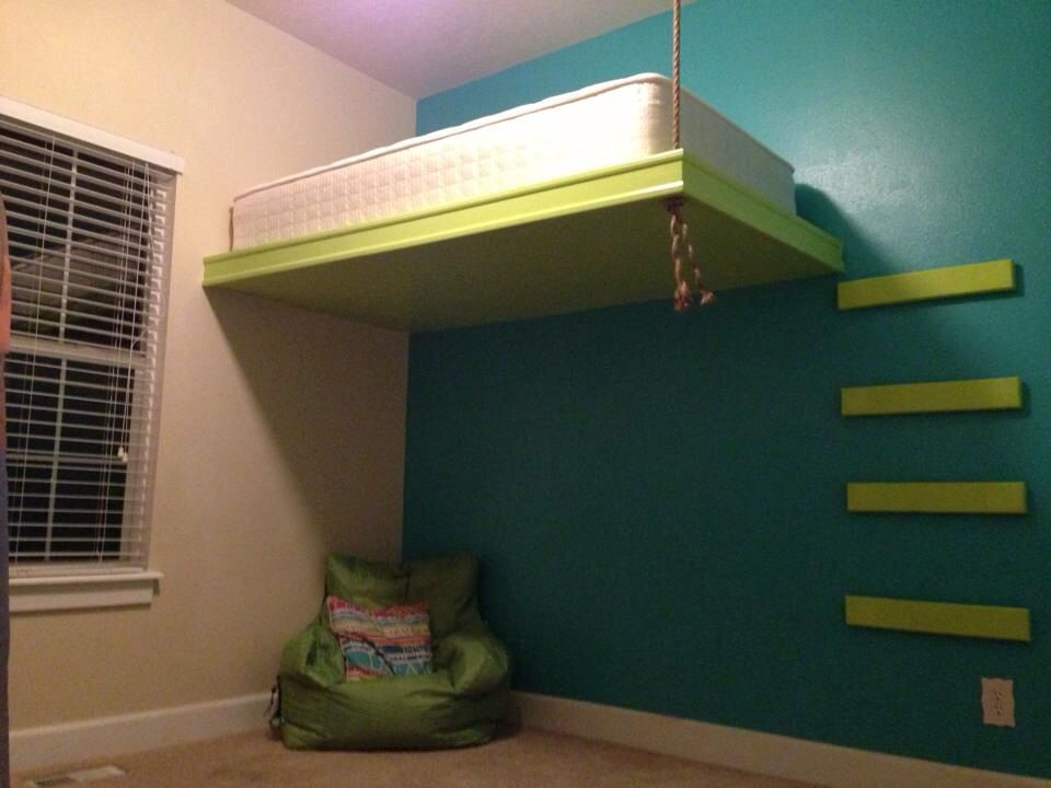 Suspended Bed Kids Rooms Pinterest
