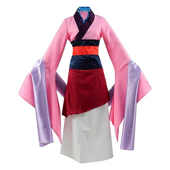 Beauty Costume Chinese Heroine Hua Mulan Dress Halloween Outfit